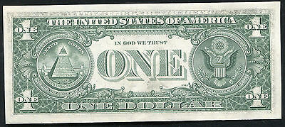 "1977 $1 One Dollar Federal Reserve Note ""partial Front To Back Overprint Error"""