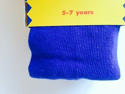 Royal Blue Tights Girls 2 Pair Pack Cotton Soft Great For School : All Sizes