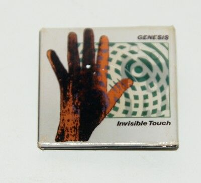 Genesis Invisible Touch Square Pinback Button