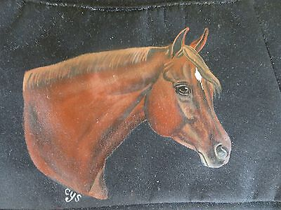 Chestnut Horse With Star Hand Painted on Nylon Purse