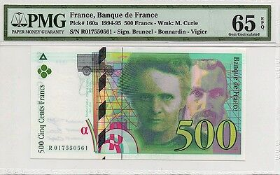 FRANCE 1994 500 FRANCS NOTE, P160a, PMG 65 EPQ