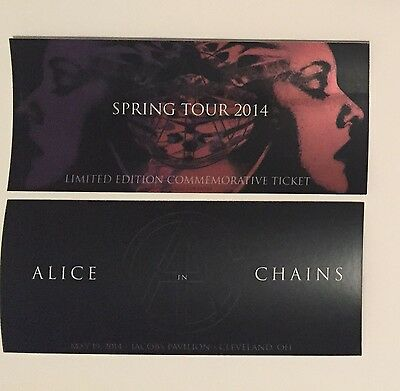 2014 ALICE IN CHAINS Commemorative Concert Ticket 5/19/2014 Cleveland, OH