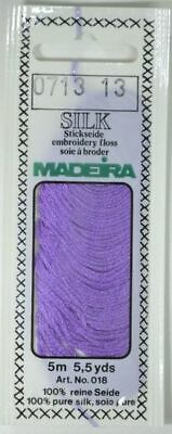 Madeira 100/% PURE SILK Colour 2401 WHITE 4-Strand Hand Embroidery Thread