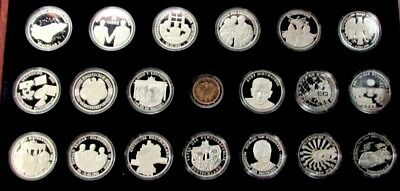 1993 Silver .999 Germany (Deutschland) 50 Years Of History 20 Medal Set