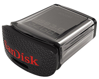 32GB SanDisk Ultra Fit USB 3.0 Tiny Memory Stick Flash Back Up Pen Drive 130MB/s