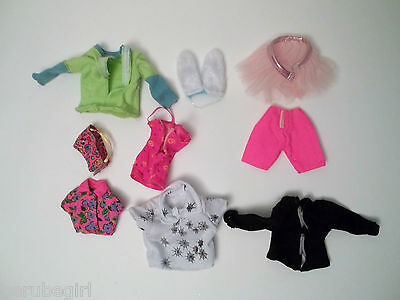 Assorted And Mixed Lot Of Doll Clothes Small Shirts Rabbit Ears Tutu Tank Top
