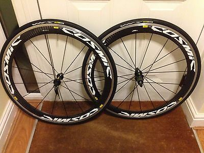 Mavic Cosmic Carbone Clincher Carbon Deep Section Wheels Wheelset