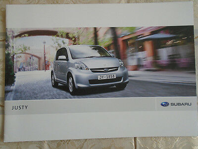 Subaru Justy range brochure 2009 European market English text