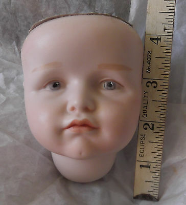 "4"" Porcelain Bisque Mold #114 K*R Painted Eye Doll HEAD Only No Body"