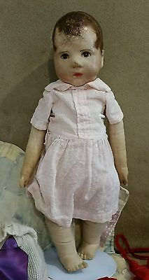 Antique Kathe Kruse early cloth wide hip baby doll German painted face