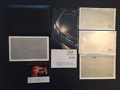 2008 Infiniti FX45 FX35 Owners Manual Set And Leather Infiniti Case