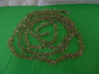 Antique Gold Christmas Tree Tinsel Garland 13'