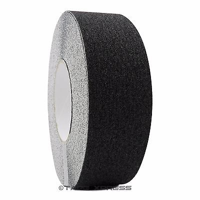 "2"" x 60' Black Non Skid Adhesive Tape 60 Grit Grip Anti Slip Traction Safety"