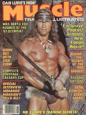 Muscle Training Illustrated Bodybuilding Mag Aug 1984 Schwarzenegger Conan