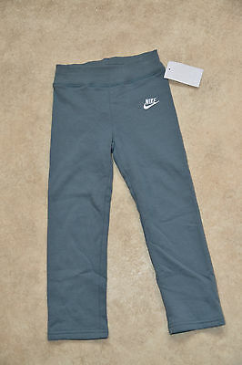 New Nike Girls Kids Junior Jogging Track Sweatpant Bottoms Joggers Grey 3-4 Year