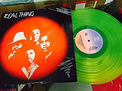 """The Real Thing Yellow/Green 12"""" Clear Coloured Vinyl Record Boogie Down 1979"""