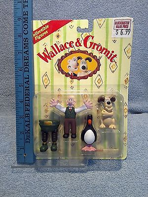 Wallace & Gromit Collectible Figures Set The Wrong Trousers Sealed #5-7777 Irwin