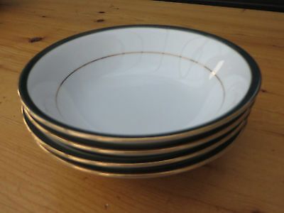 Lot Of 4 Boots Hanover Green Soup / Dessert / Cereal Bowls -  Excellent!!!