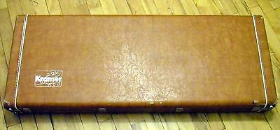 1970s Kramer USA Hardshell Case 650 450 Deluxe Leather OHSC DMZ 1977 1978 1979