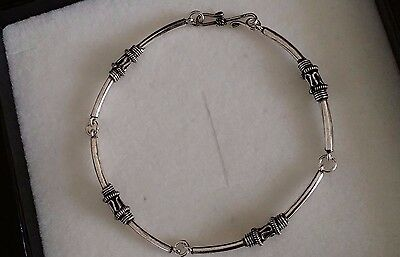 Ladies Real 925 Sterling Silver Delicate Chain Bracelet + Gift Box