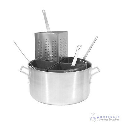 Pasta Cooker, 20L, Aluminium Pot with 4 Inserts, CaterChef, Stovetop Cooking