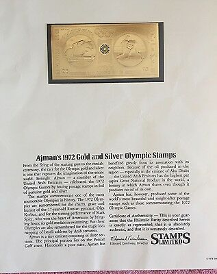 Stamp Ajman's Gold and Silver Olympic   1972