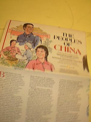 Peoples of China National Geographic Map