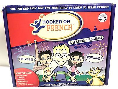 Hooked on French A 3 Level Program from Hooked on Phonics Age 4-6 Mostly NEW