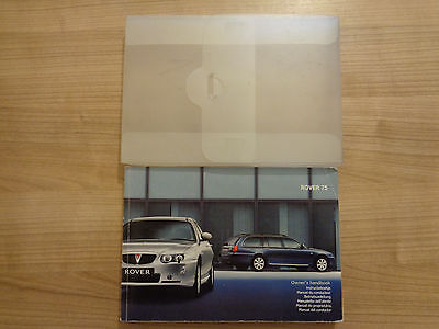 Rover 75 Owners Handbook/Manual and Wallet 04-06