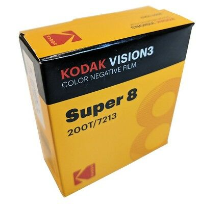 KODAK Super 8MM  200T/7213 VISION 3 COLOR Negative *BRAND NEW FACTORY FRESH*