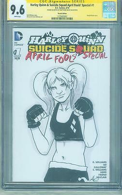 Harley Quinn & Suicide Squad 1 CGC SS 9.6 MMA Fighter original art sketch no 8