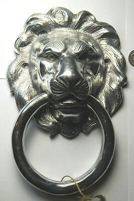 "Lion Head 9.5""  Aluminum Door Knocker"