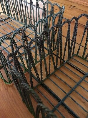 Set of 3 Vintage Antique Twisted Wire Flower Window Boxes 17 x 9.5 x 5