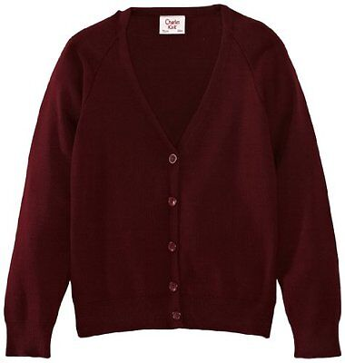 Rosso (Maroon) (TG. C36 IN- UK) Charles Kirk Coolflow - Cardigan, unisex, Rosso