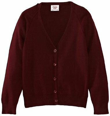 Rosso (Maroon) (TG. C32 IN- UK) Charles Kirk Coolflow - Cardigan, unisex, Rosso