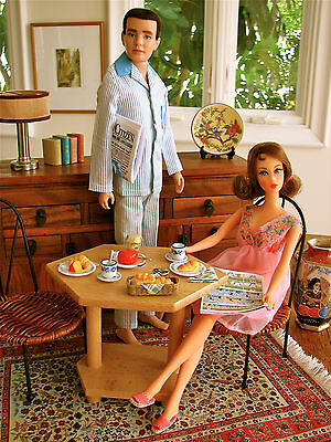 Vintage Barbie Table & Chairs Diorama