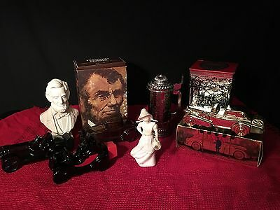 Lot Of Vintage Avon Perfume Cologne Bottles, Cars, Lincoln, Mary Mary, Stein