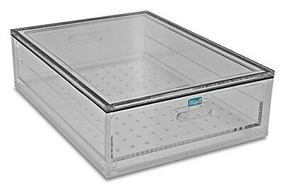 """TrippNT 51398 Acrylic Portable Personal Desiccator, 17"""" x 5"""" x 12"""", Large, Clear"""