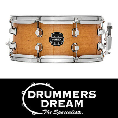 """MAPEX MPX 13"""" x 6"""" Maple Snare Drum Gloss Natural Finish - BRAND NEW"""