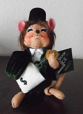 """Annalee Doll Christmas FRUGAL SCROOGE Mouse 6"""""""