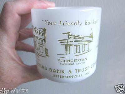 Vintage Citizens Bank & Trust Company Jeffersonville Indiana Mug IN clarksville