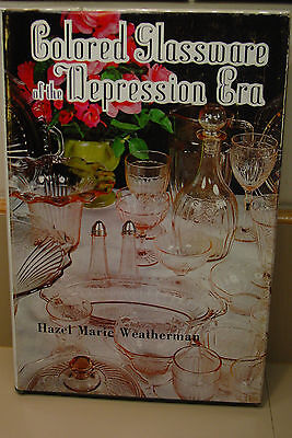 Colored Glassware of the Depression Era Hazel Marie Weatherman 1979  New