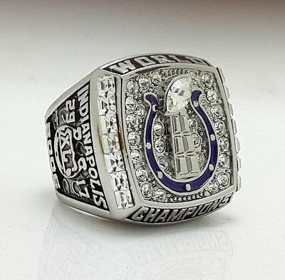 Indianapolis Colts Super Bowl Championship ring Wooden Case Fans Collect Gift