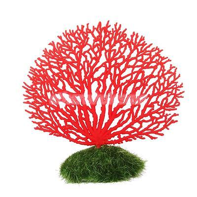 Ornement Aquarium Corail Artificiel Plante Silicone Décoration Poisson Rouge