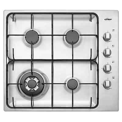 Chef GHC617S 60cm stainless steel gas cooktop including wok burner
