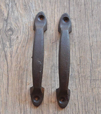 Antique Vintage Cast Iron door cabinet screen handles Pull rustic Victorian 4.1""