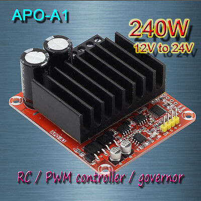 Free shipping  APO-A1 DC brush motor PWM controller + RC + speed controller 240W