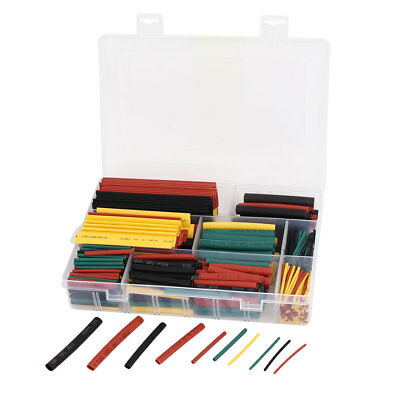 Four Colors 6 Sizes Insulated Heat Shrink Tube Sleeving Wrap Wire Kit 520pcs