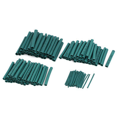 4 Sizes Insulated Heat Shrink Tube Sleeving Wrap Wire Kit Green 140pcs