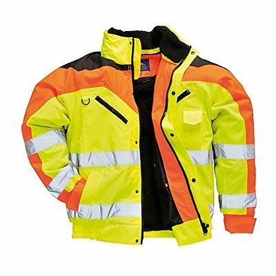 Portwest S464YERL Bomber Contrast Plus, Giallo, Large